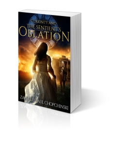 Curiosity and The Sentient's Oblation Book 3 in The Gabrielle Series Signed Copy-$12